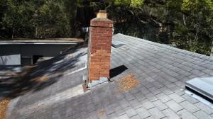 Old brick chimney.