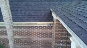 Fascia board and roof decking replaced at various places.